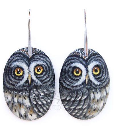 Great Grey Owl Earrings