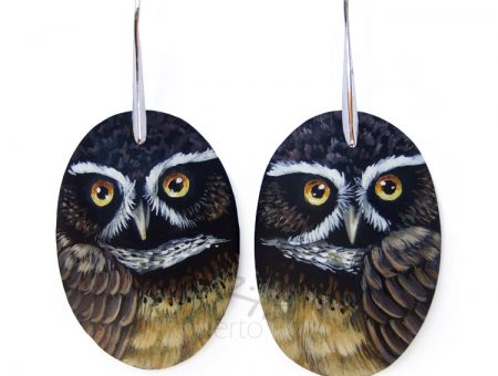 Spectacled Owl Earrings