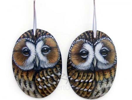 Tawny Owl Earrings