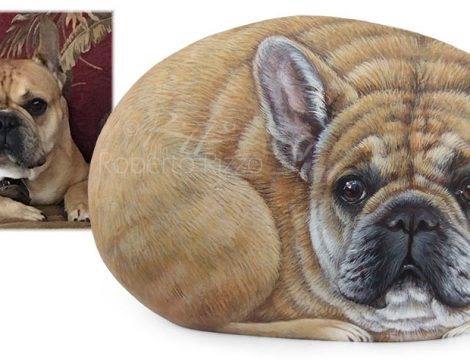 Dog Paintings On Rocks