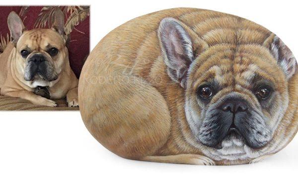 Dog Paintings On Rocks