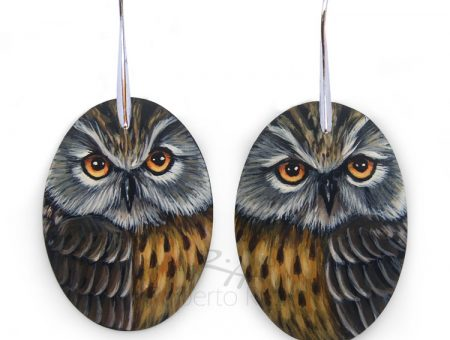 Long-Eared Owl Earrings