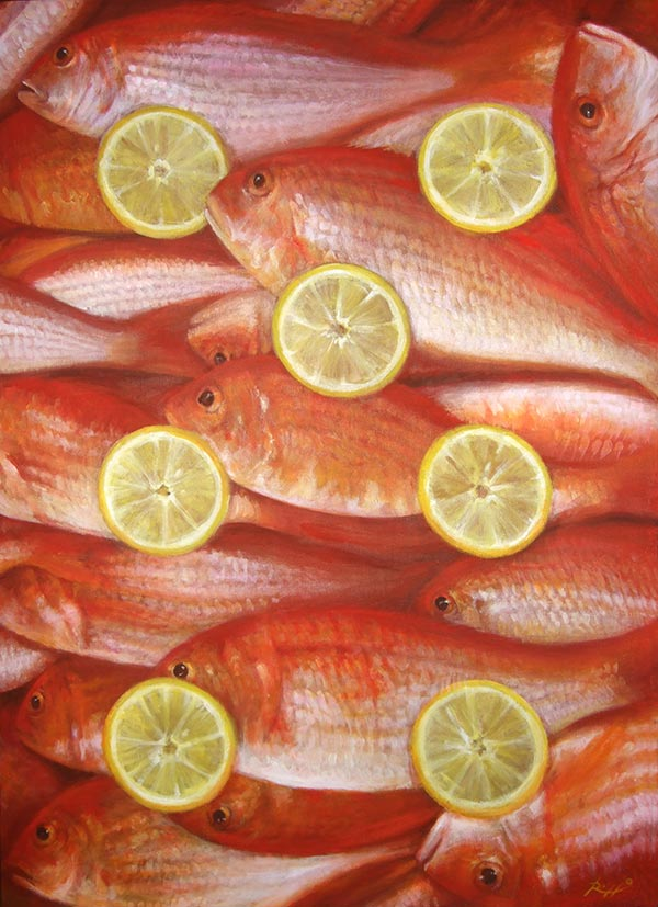 Fish painting fine art by Roberto Rizzo