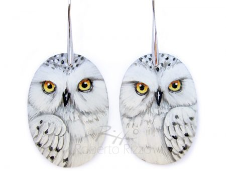 Snowy Owl Earrings