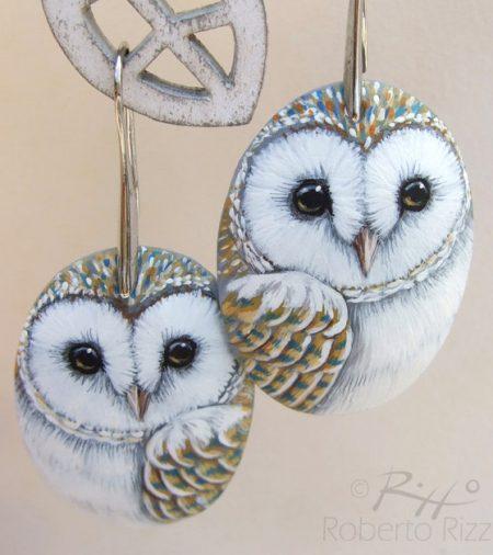 Barn Owl Earrings 2