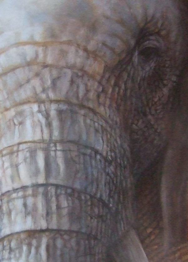 Elephant painting by Roberto Rizzo