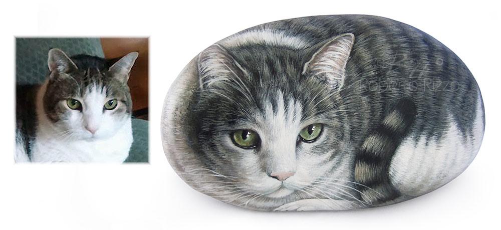 Pet rock portrait on commission