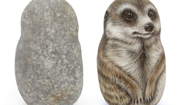 Painted Meerkat On Stone
