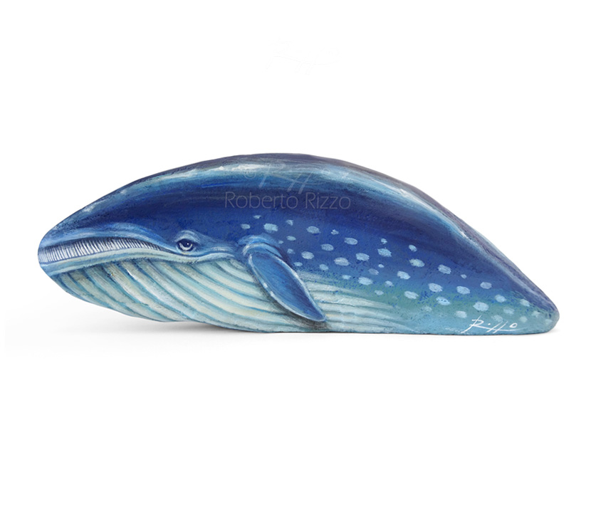 Whale rock painting