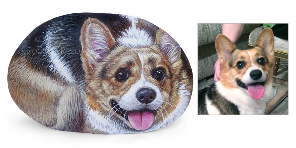 Corgi dog portrait